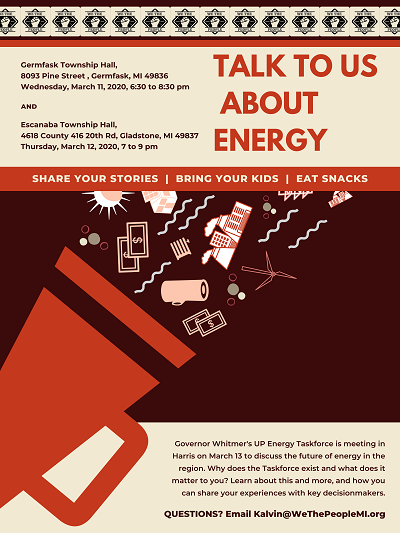 Energy Listening event flyer